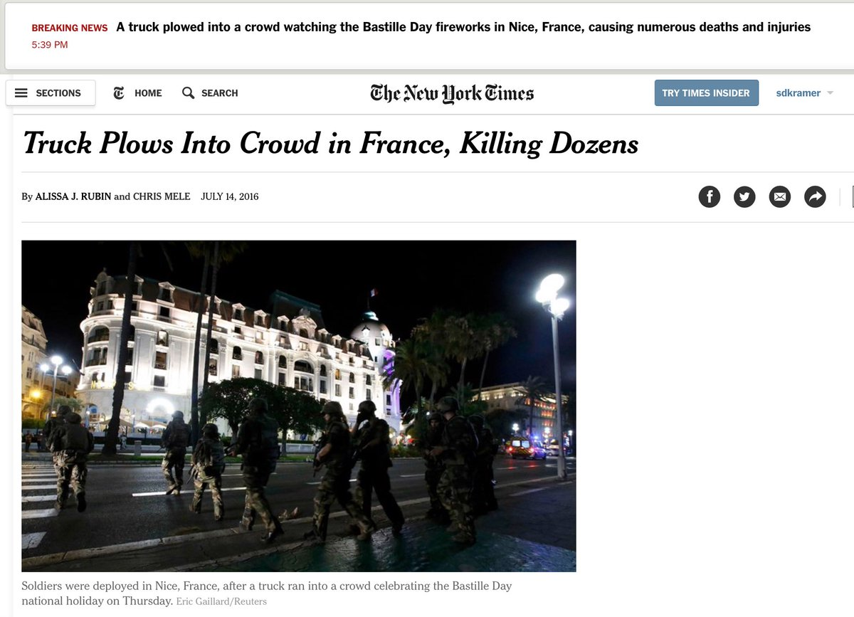 nytimes breaking news report on nice careful in the story alert