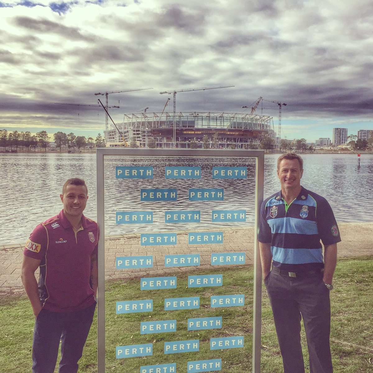 Proud to part of the huge announcement by the @nrl to take the 2019 State Of Origin Game 2 to Perth! #QLDER #Origin https://t.co/ezTOO7UpIV