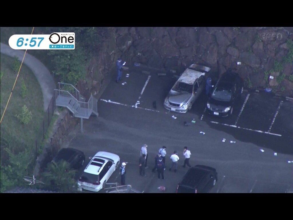 ヘリがめちゃ飛んでる。RT @toyodaginpachi: 御器所の駐車場で 燃えた車は 発砲事件の車輌か? https://t.co/vwcSkU9nLU
