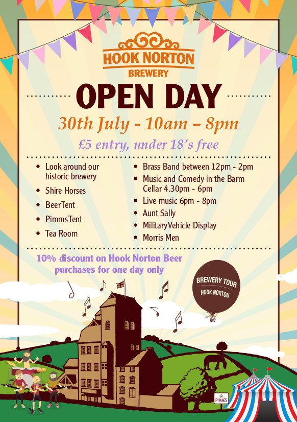 Date for your diary - Brewery Open Day - food, music, comedy, beer, shire horses, beer, #brewerylife #hooky #daysout https://t.co/KzTV4Q73qF