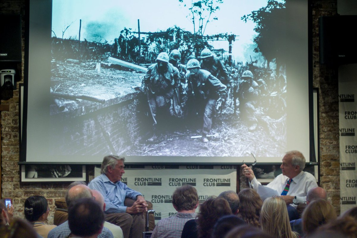 An inspiring evening: legendary photographer Don McCullin discussing his book Irreconcilable Truths w/ @jonsnowC4 https://t.co/QliCwJnBd9