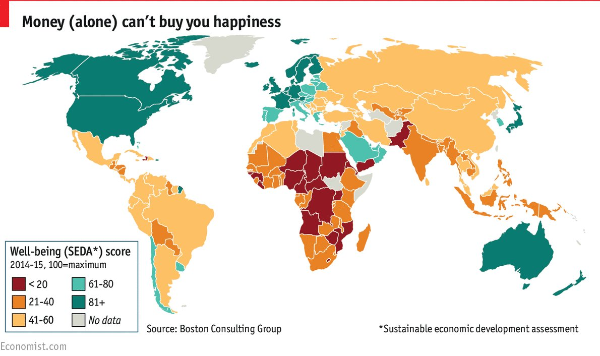 Which countries convert their wealth into well-being for their citizens?