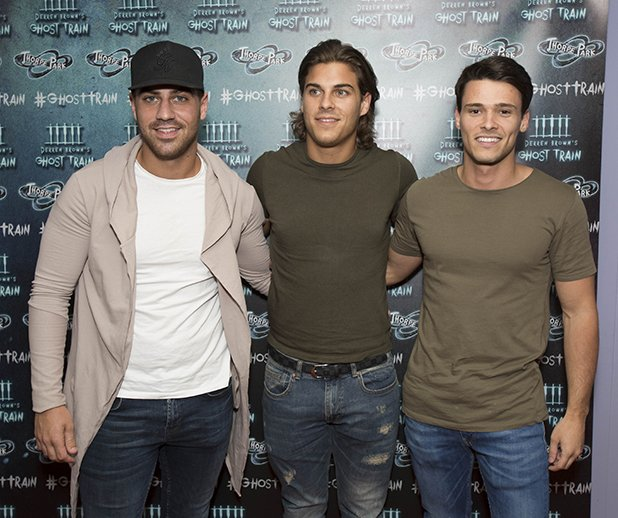 TOWIE's Jon Clark and Love Island's Nathan Massey meet Harry Potter star!