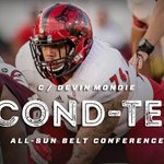 Congrats to Devin Mondie on being named to the Preseason All @SunBelt Second-Team for offense. #WolvesUp https://t.co/6RgwJFogmv