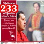 Como dijo el Cmdte Chávez en 2012, hoy, a 233 años de su natalicio, Bolívar vive y vivirá para siempre en nosotros https://t.co/HYizfKspme