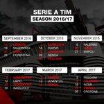 Here are our 2016/17 #SERIEATIM fixtures. Save the dates! Il calendario completo della prossima @SerieA_TIM dei ❤️⚫️ https://t.co/K0CewigFZ6