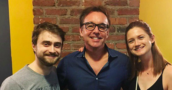Reunion alert! Harry Potter co-star Bonnie Wright attends Radcliffe's off-Broadway play.