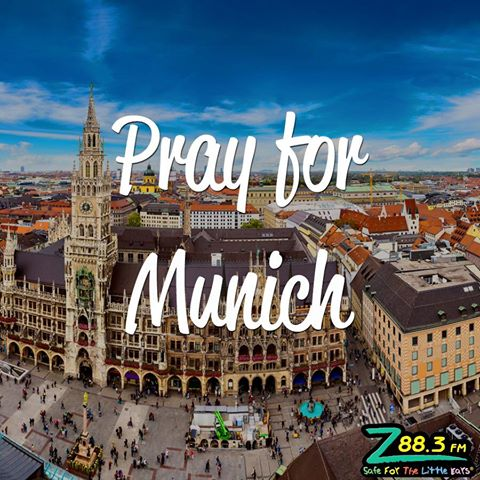 Please join your Z as we #PrayforMunich. Our hearts are heavy, but we cling to the hope we have in Jesus. https://t.co/M5BRJcB7DW
