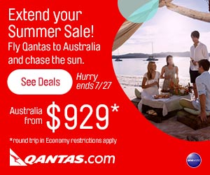 Extend Summer your SUMMER SALE! Fly Qantas to Australia. Ends 7/27. Click for more details -