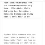 """Email shows @DWStweets saying @BernieSanders """"has no understanding"""" of what Dems do https://t.co/zgmJQdGwOx"""