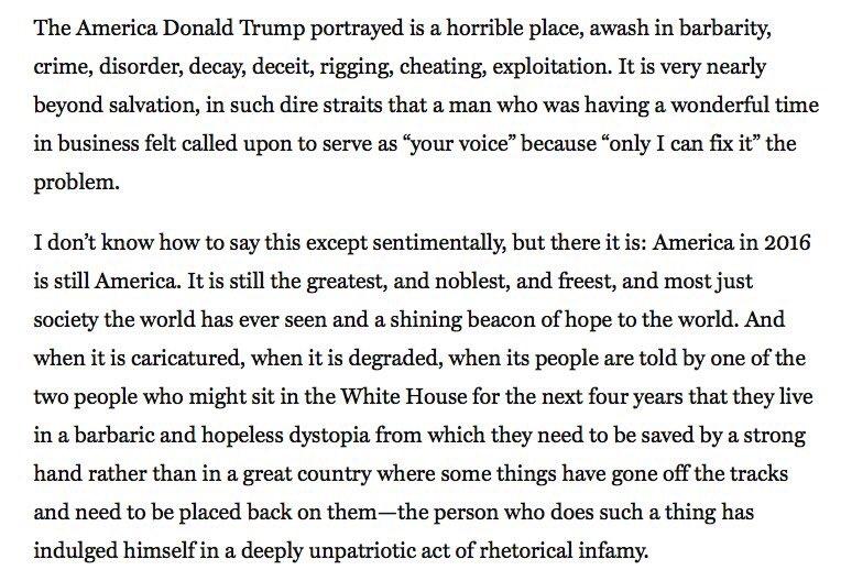 Conservative columnist, Reagan speechwriter, 5x Jeopardy champ @jpodhoretz sums up USA poetically. Please read: https://t.co/OKxHit8nGg