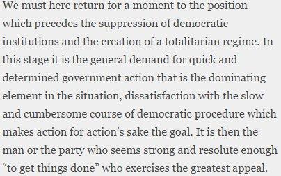 "Hayek in ""The Road to Serfdom,"" eternally relevant. https://t.co/yeXsSHnFdn"