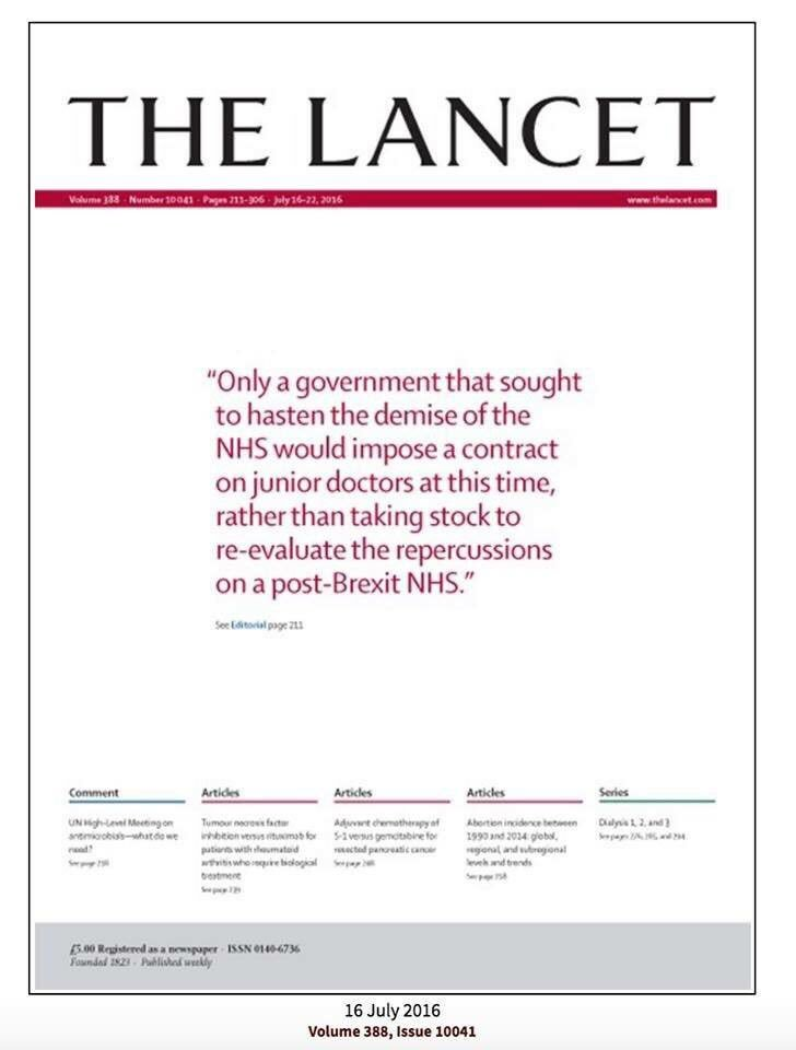 The front cover of the Lancet https://t.co/uvbvLsplcs