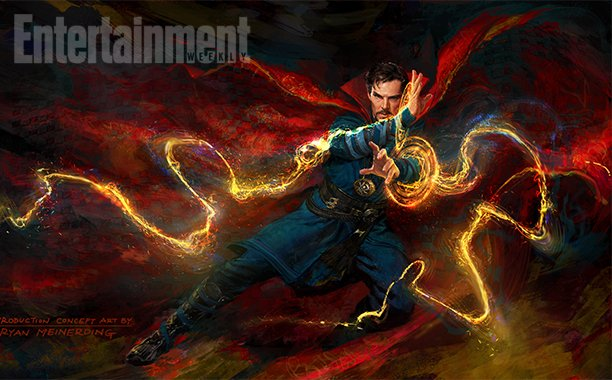 Exclusive: Benedict Cumberbatch casts his spell in the new DoctorStrange poster for SDCC: