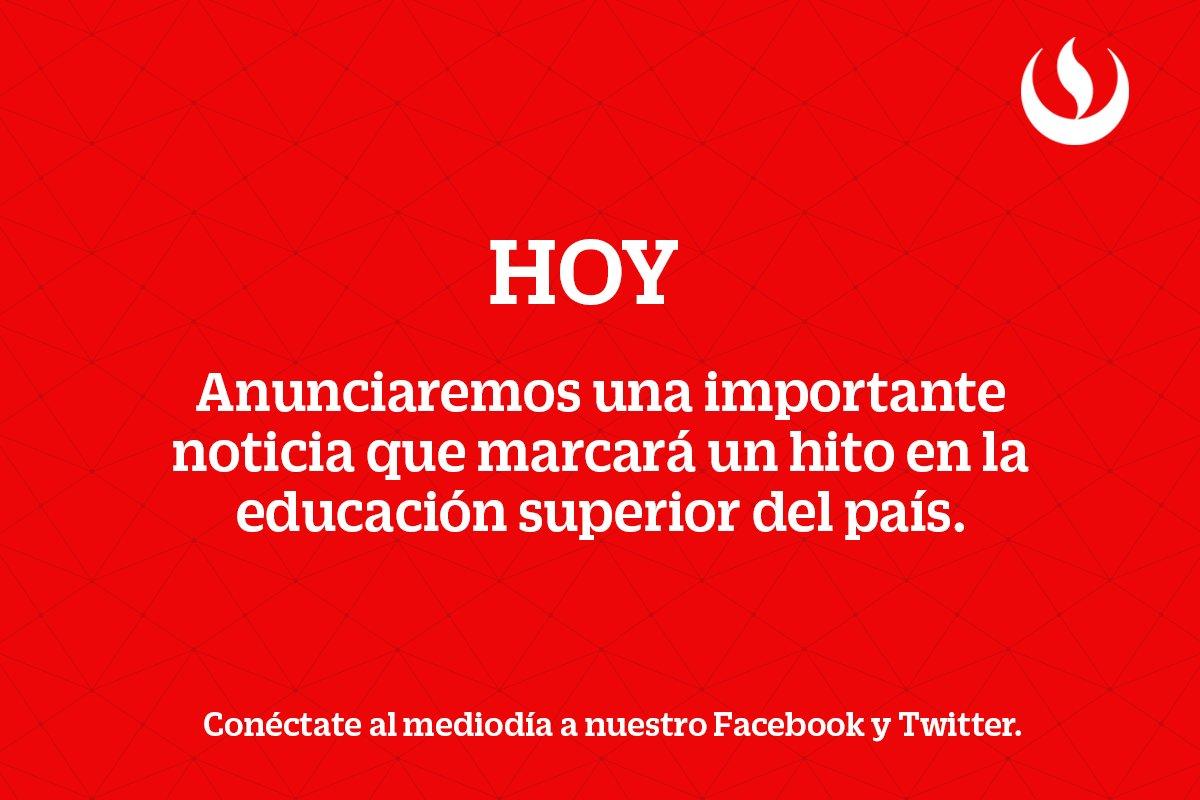 ¡Hoy tenemos una noticia muy importante que compartir con todo el #Perú!  #ExígeteUPC #OrgulloUPCino #UPC https://t.co/7bDbBy1JEG