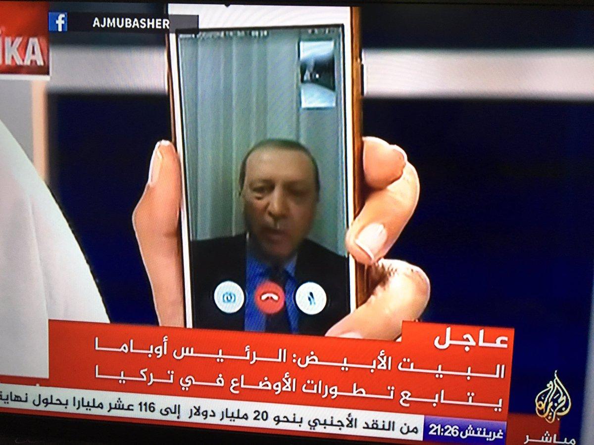Erdogan making a statement via Facetime https://t.co/cLVxL20fSg