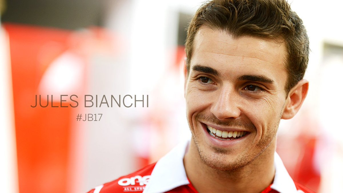 Jules Bianchi: August 3, 1989 - July 17, 2015. Never forgotten. #JB17 https://t.co/LTnfYohwMd