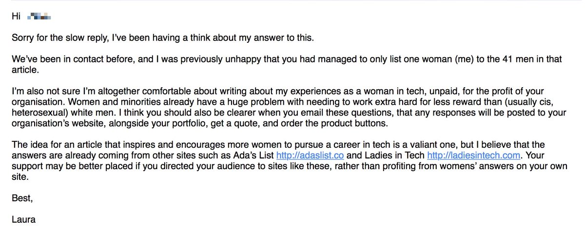Were you asked to contribute to a roundup on women in tech by this guy? Because this is what he *really* thinks… https://t.co/mxhRQN2FWG