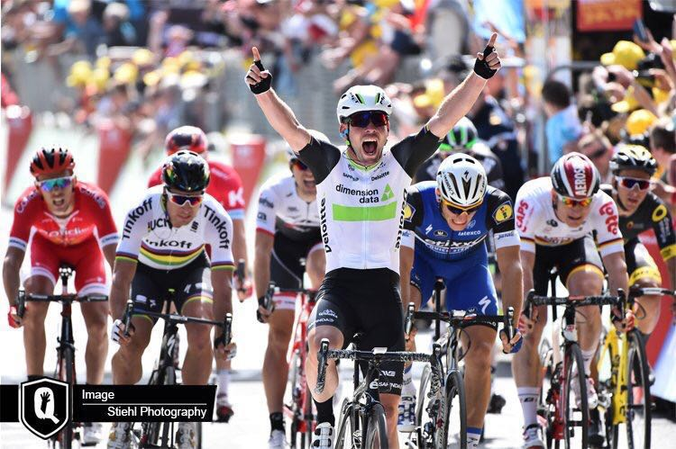 Congratulations @MarkCavendish for winning #TDF2016 stage 14. Four stage wins for Cav and five wins for @TeamDiData https://t.co/vXh8nCuDKo