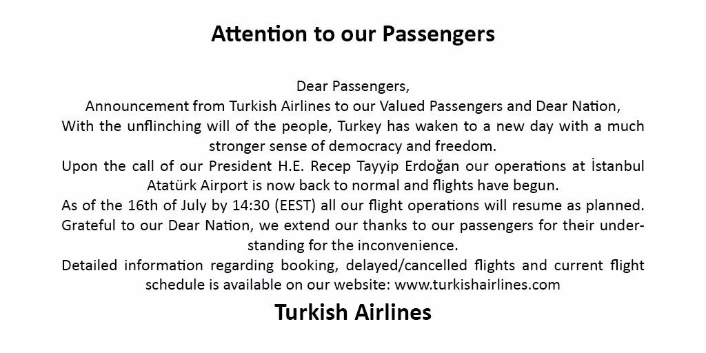 To the attention of our passengers: