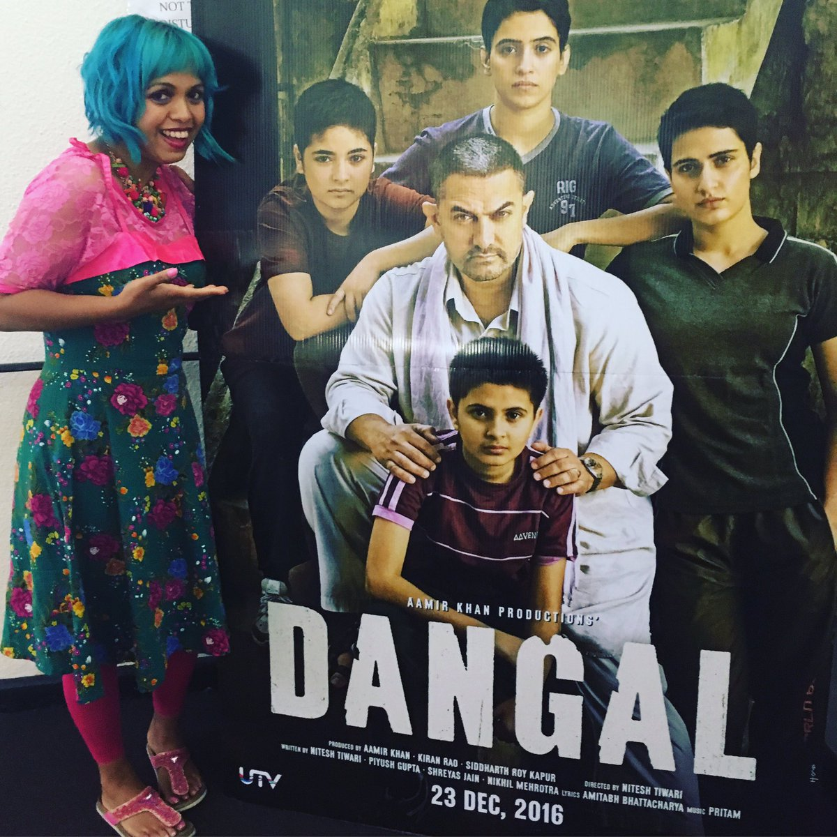 Spotted at #BoleynCinema in East London the poster for #AmirKhan's big 2016 release #Dangal bring on #Xmas https://t.co/cmhOVfCoMO