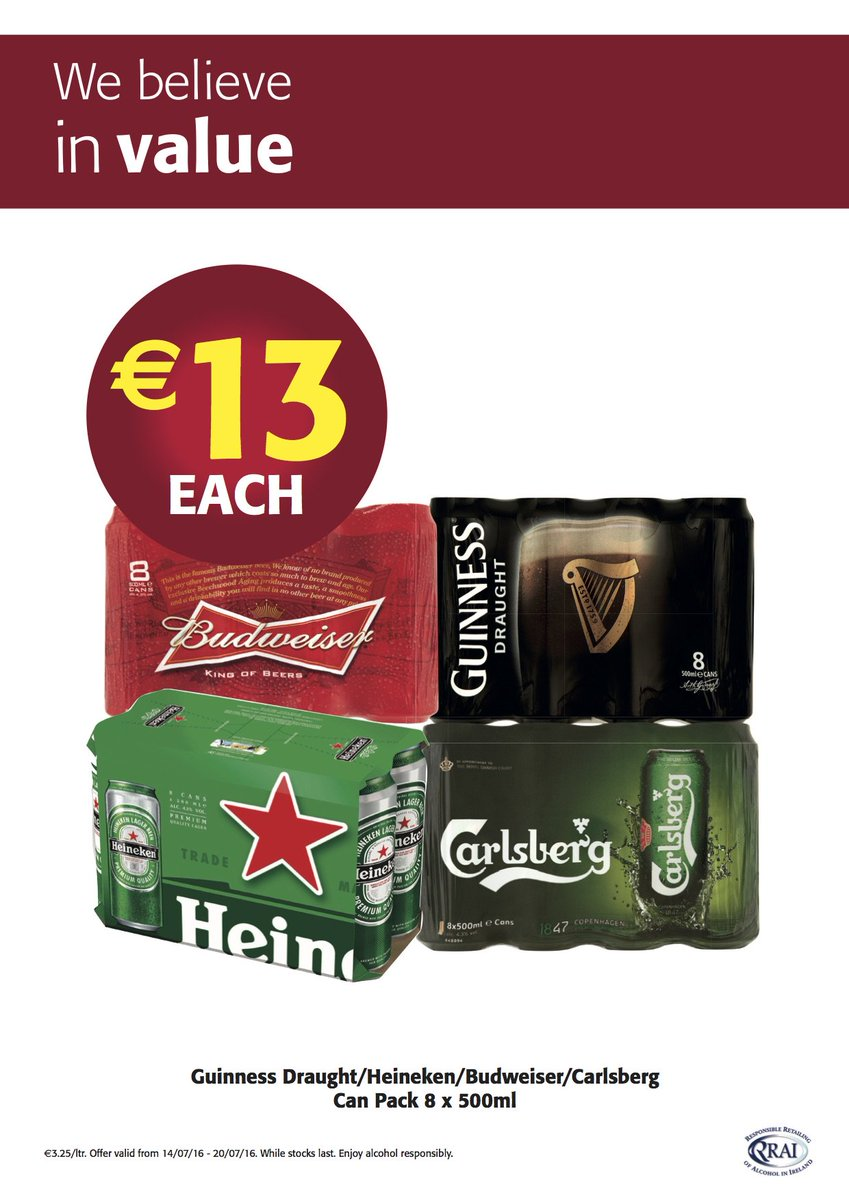 Some cooling offers on beers in store! https://t.co/FoZ7BQrYhm