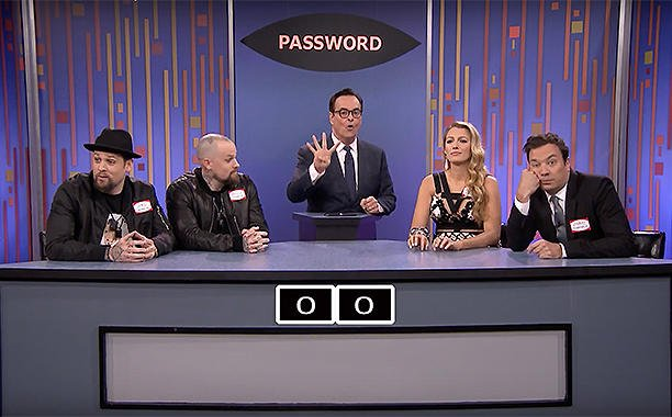 Blake Lively battles Good Charlotte's Benji and Joel in Password on 'The Tonight Show':