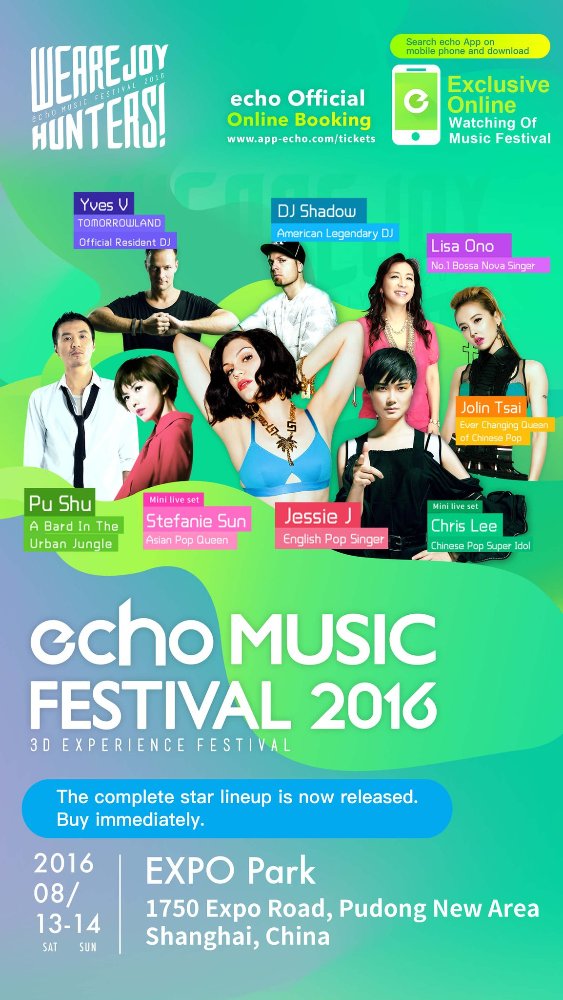 China! I'm headlining the Echo music festival in Shanghai August 14th Info-https://t.co/w7y8HKZ6PF  Can't wait!!! https://t.co/Lp6dNbCUBX