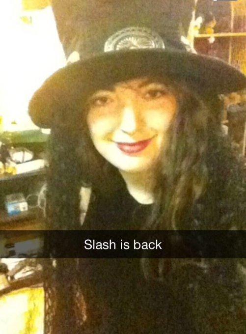 SLASH TURNS 19 TODAY    happy birthday sis !!! love you so much
