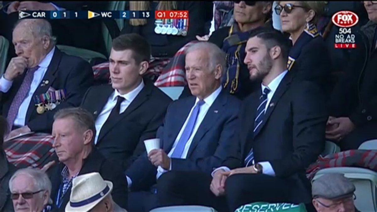 . @VP looks very, very confused watching @AFL for first time #AFLBluesEagles https://t.co/x5OIIZCBKf