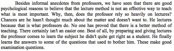 """David Hestenes on why professors lecture. Hint: It isn't because lectures can be """"inspiring"""". https://t.co/udfxOYM4Th"""