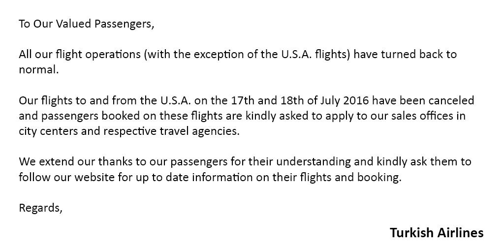 Attention to our passengers: