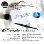 Pointed Pen Calligraphy Workshop w/ @mercianggara by BASIC WORKSHOP | 31Jul16 @GSuites Hotel Sby | CP 08123149060 https://t.co/rNOhHNjzag
