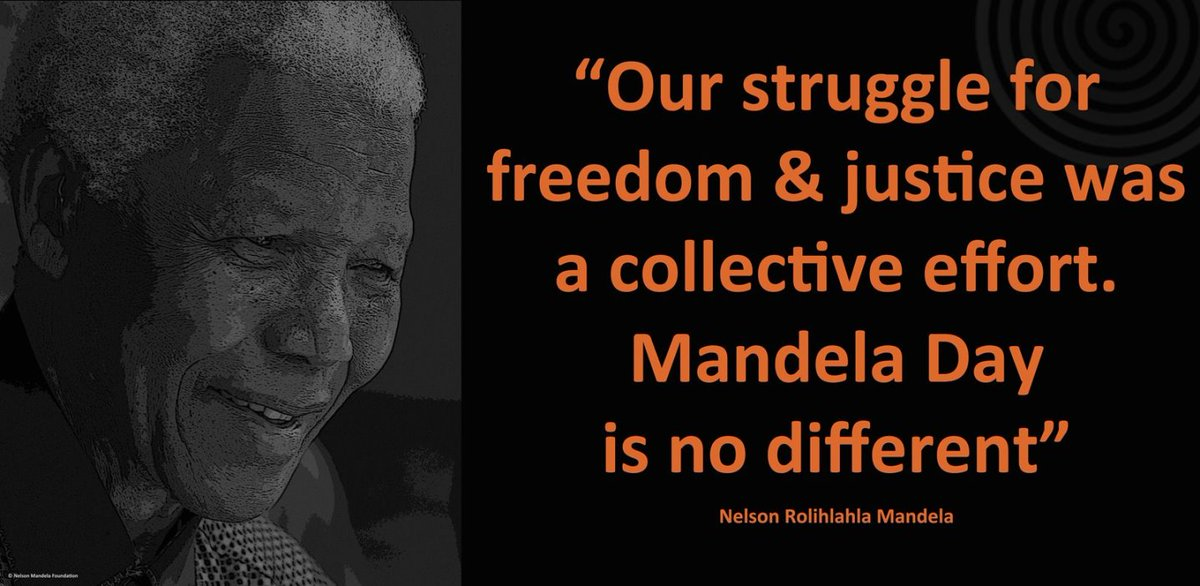 """""""Our struggle for freedom & justice was a collective effort. #MandelaDay is no different"""" #LivingTheLegacy https://t.co/UTJKpu3GvE"""