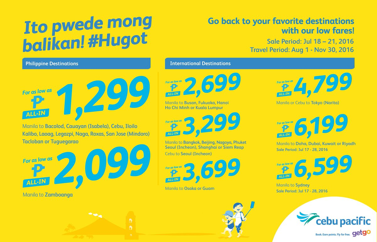 Buti pa ang fave destination binabalikan with the new CEBSeatSale! Book now!