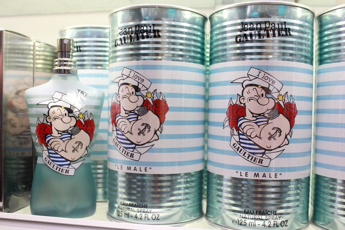 Looking to strengthen your fragrance game? Find Popeye @JPGaultier in @WorldDutyFree!