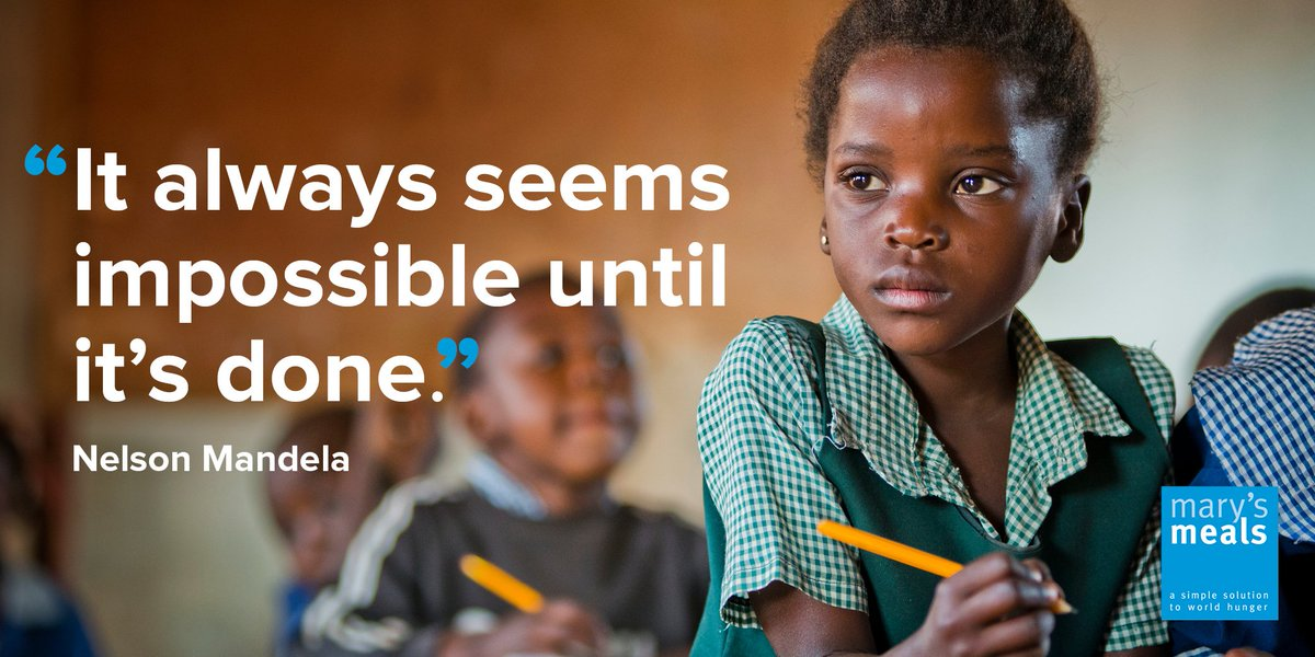 We believe our vision – that every child receives a daily meal in a place of education – can be realised #MandelaDay https://t.co/B8ZxMqLNzL