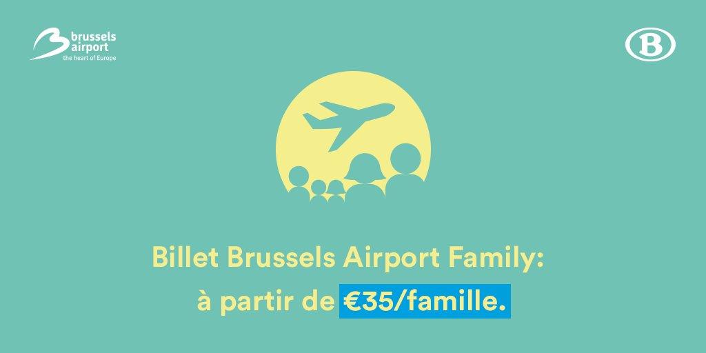 RT @SNCB: Des vacances entre amis ou en famille ? Optez pour le Billet @BrusselsAirport Family ! SNCB https://t.co…