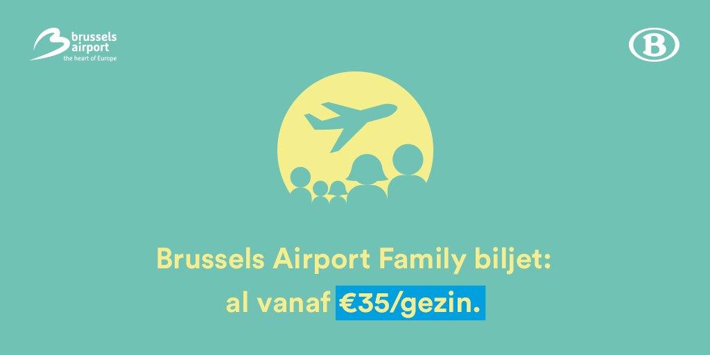 RT @NMBS: Op vakantie met familie of vrienden? Kies dan voor het @BrusselsAirport Family Biljet! NMBS https://t.co…