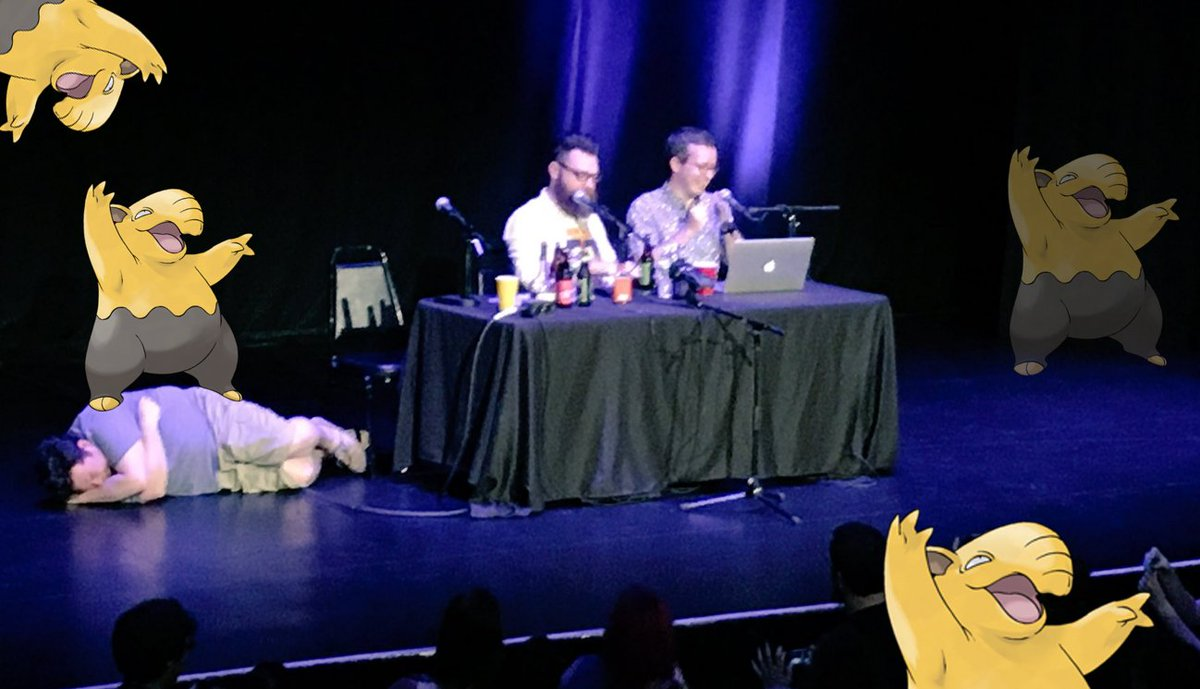 Hey! MBMBaM 312 is here and we're Live from Drowzee City! https://t.co/SuJBHgpirL Thanks for RTing! https://t.co/tRaYyk5Kjk