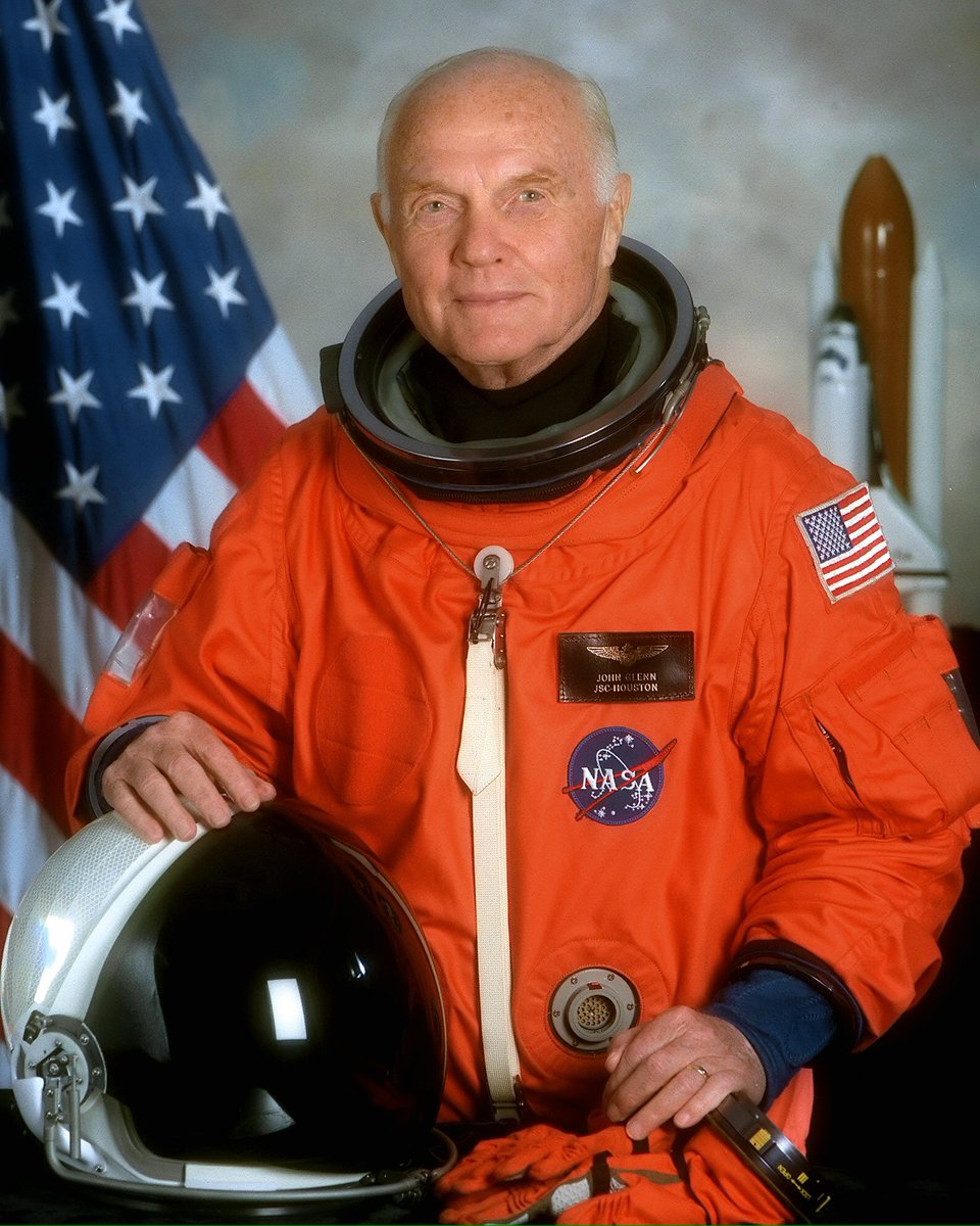 Happy 95th Birthday to Astronaut John Glenn, the first American to orbit Earth, and the oldest in space at age 77. https://t.co/7jcMx1hPI0