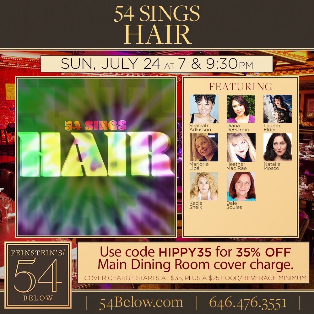 Singing w/ these lovelies at 7pm on Sunday @54Below #LetTheSunShineIn   https://t.co/Wvgw5rE2Gt @DianaDeGarmo ☀️✌️❤️ https://t.co/jFY8KlTpvS