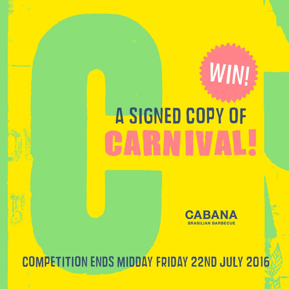 #competition time - celebrate the launch of Carnival! and this #heatwave in style. RT to #win a SIGNED copy! https://t.co/40c2gpWWuK