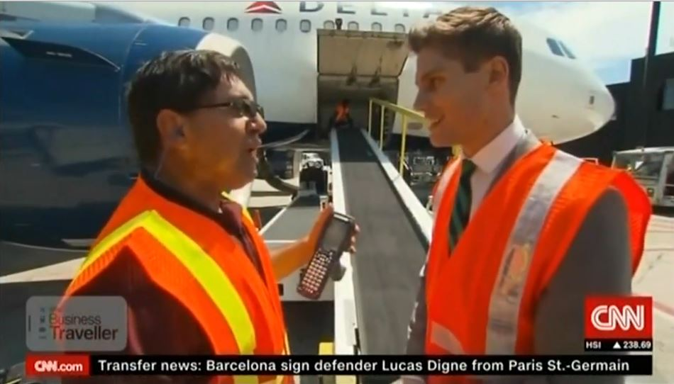 VIDEO: @CNN covers @Delta's innovative baggage handling process that uses RFID technology.