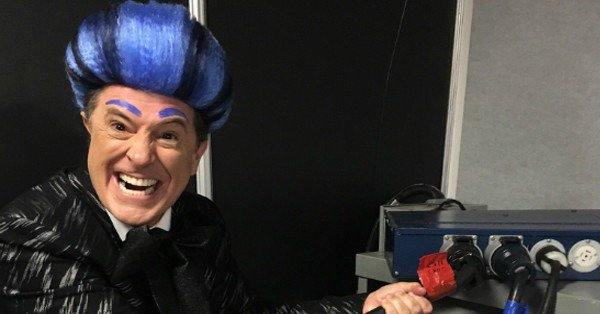 Stephen Colbert dressed up as Caesar from