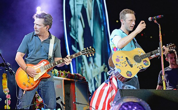 Coldplay recreated that 'Back to the Future' scene with Michael J. Fox: