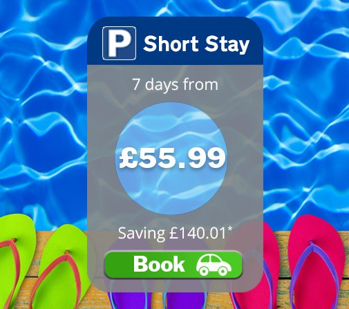 Save up to 70% in Short Stay! Park close to the terminal and in undercover bays! Book today: