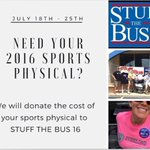 Need a sports physical? For $15 Dr. Chad Folk of Sterling Chiropractic is giving all proceeds to Stuff the Bus! https://t.co/oUpuMVi9cS