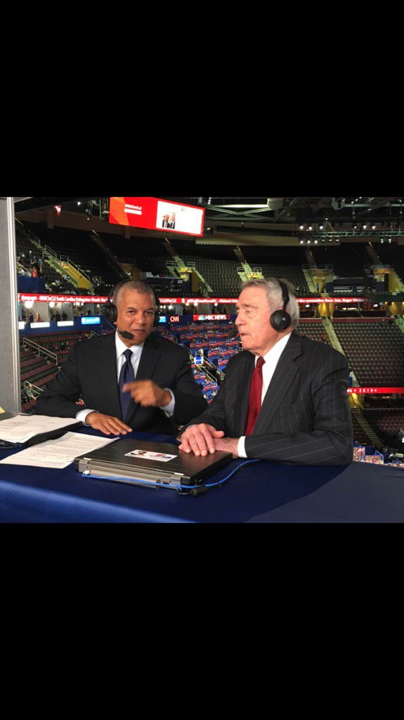 "Me:""How much fun is this for you?"" @DanRather:""Politics is the most fun you can have out of bed."" #RNCinCLE @wkyc https://t.co/bX3bWkuNiw"