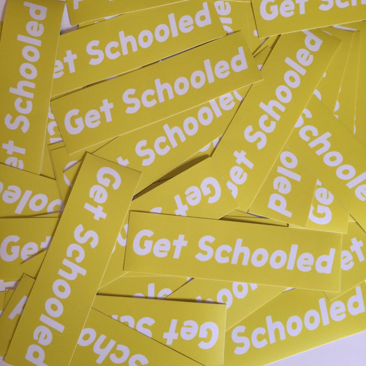 New Get Schooled Sticker GIVEAWAY